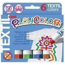 tempera solida playcolor one textil 6und