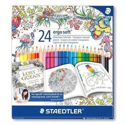 Staedtler lapices ergo soft 24 colores brillantes