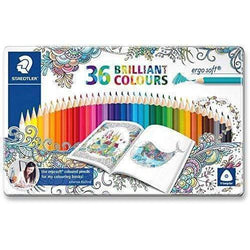 Staedtler lapices ergo soft 36 colores brillantes