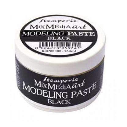Stamperia K3P38B art modeling paste 150ml negro STAMPERIA CENTROARTESANO