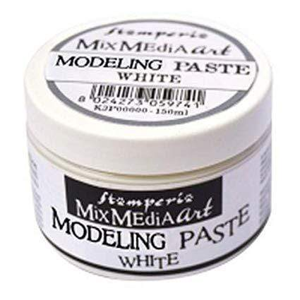 Stamperia K3P38W art modeling paste 150 blanco STAMPERIA CENTROARTESANO