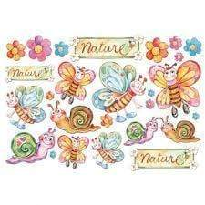 Stamperia papel arroz 48X33 DFS103 infantil nature mariposas STAMPERIA CENTROARTESANO