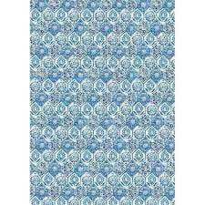 Stamperia papel arroz A3 DFSA3014 blue tile