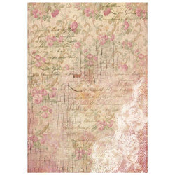 Stamperia papel arroz A4 DFSA4209 buds and lace