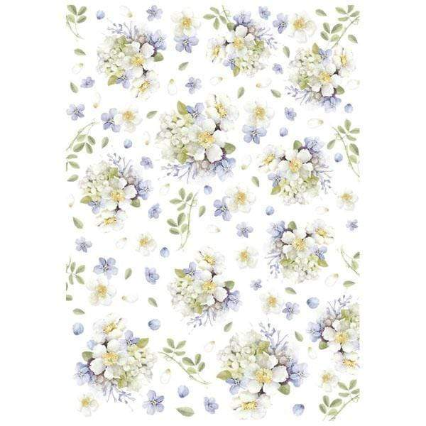 Stamperia papel arroz A4 DFSA4231 lilac bouquet STAMPERIA CENTROARTESANO