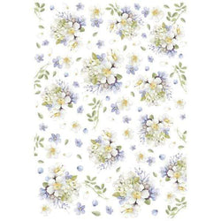Stamperia papel arroz A4 DFSA4231 lilac bouquet