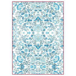 Stamperia papel arroz A4 DFSA4298  blue arabesque