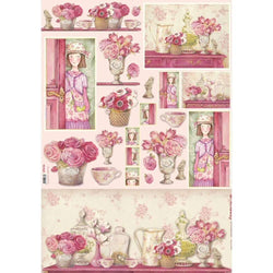 Stamperia papel decoupage 80gr 50x70 DFG346