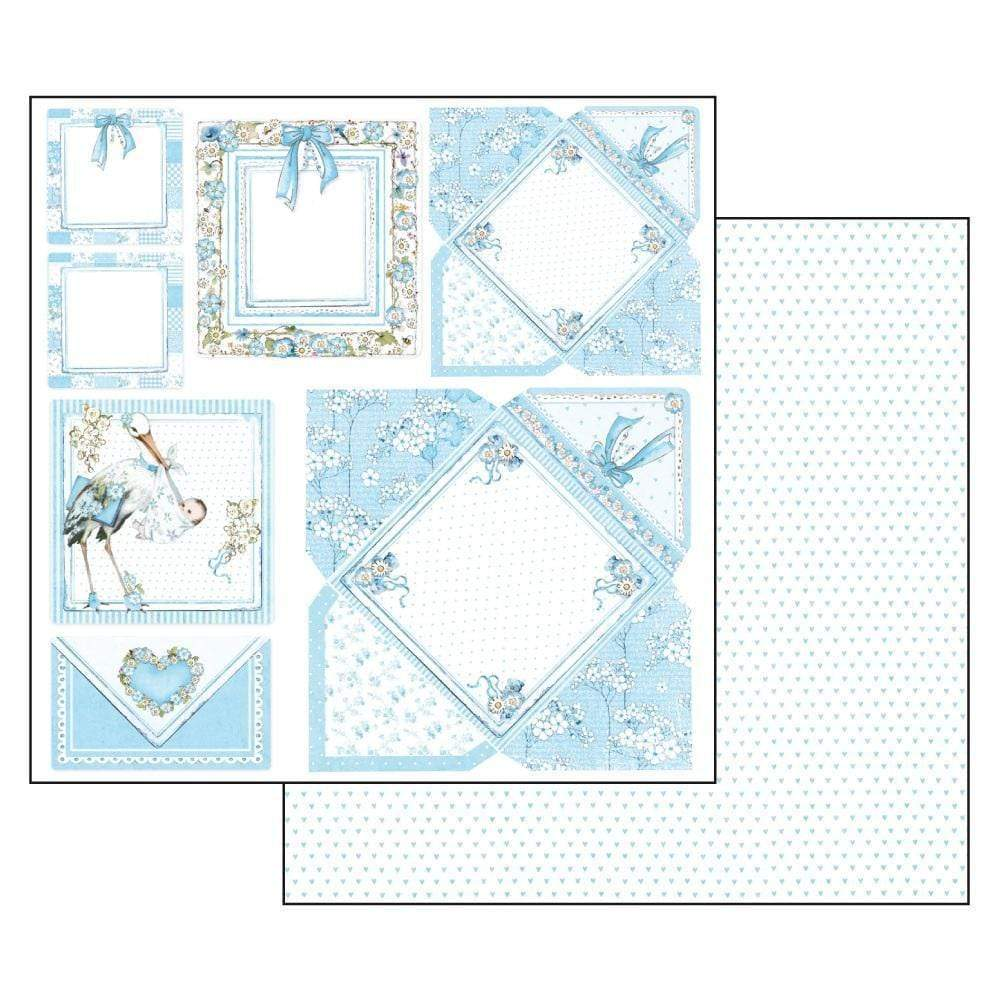 Stamperia papel scrap SBB545 baby boy  cards STAMPERIA CENTROARTESANO