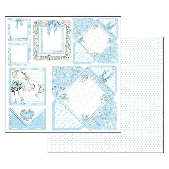 Stamperia papel scrap SBB545 baby boy  cards