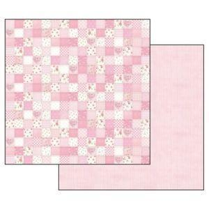 Stamperia papel scrap SBB548 baby girl pinck patchwork