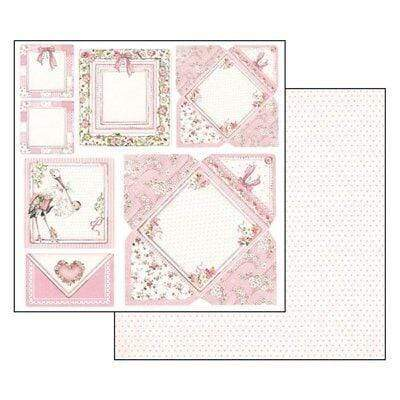 Stamperia papel scrap SBB550 baby girl cards STAMPERIA CENTROARTESANO