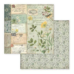 Stamperia papel scrap SBB585 spring botanic yellow alpine poppy