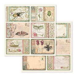 Stamperia papel scrap SBB590 spring botanic cards