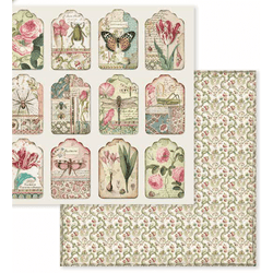 Stamperia papel scrap SBB591 spring botanic tags
