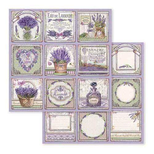 Stamperia papel scrap SBB593 provence cards STAMPERIA CENTROARTESANO