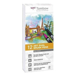 Tombow rotulador dual brush estuche 12 grey colours ABT12P3