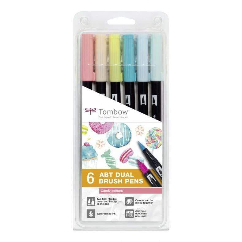 Tombow rotulador dual brush estuche 6 candy colours ABT6P4 TOMBOW Oferta CENTROARTESANO