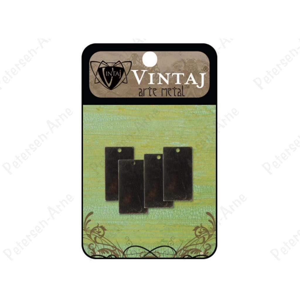 Vintaj placas  rectangle 22mm arte metal VINTAJ CENTROARTESANO