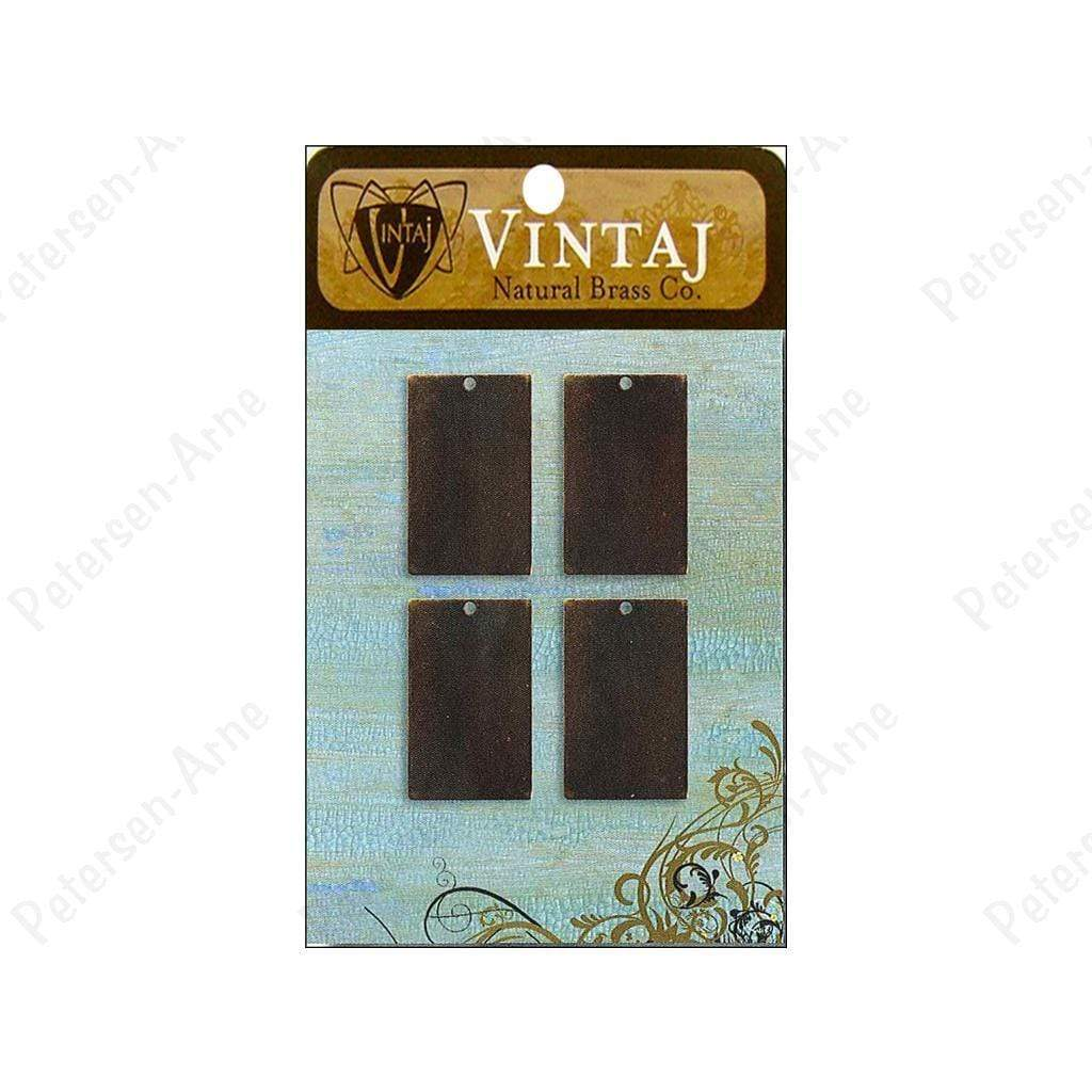 Vintaj Placas Sm rectangle nat brass VINTAJ CENTROARTESANO