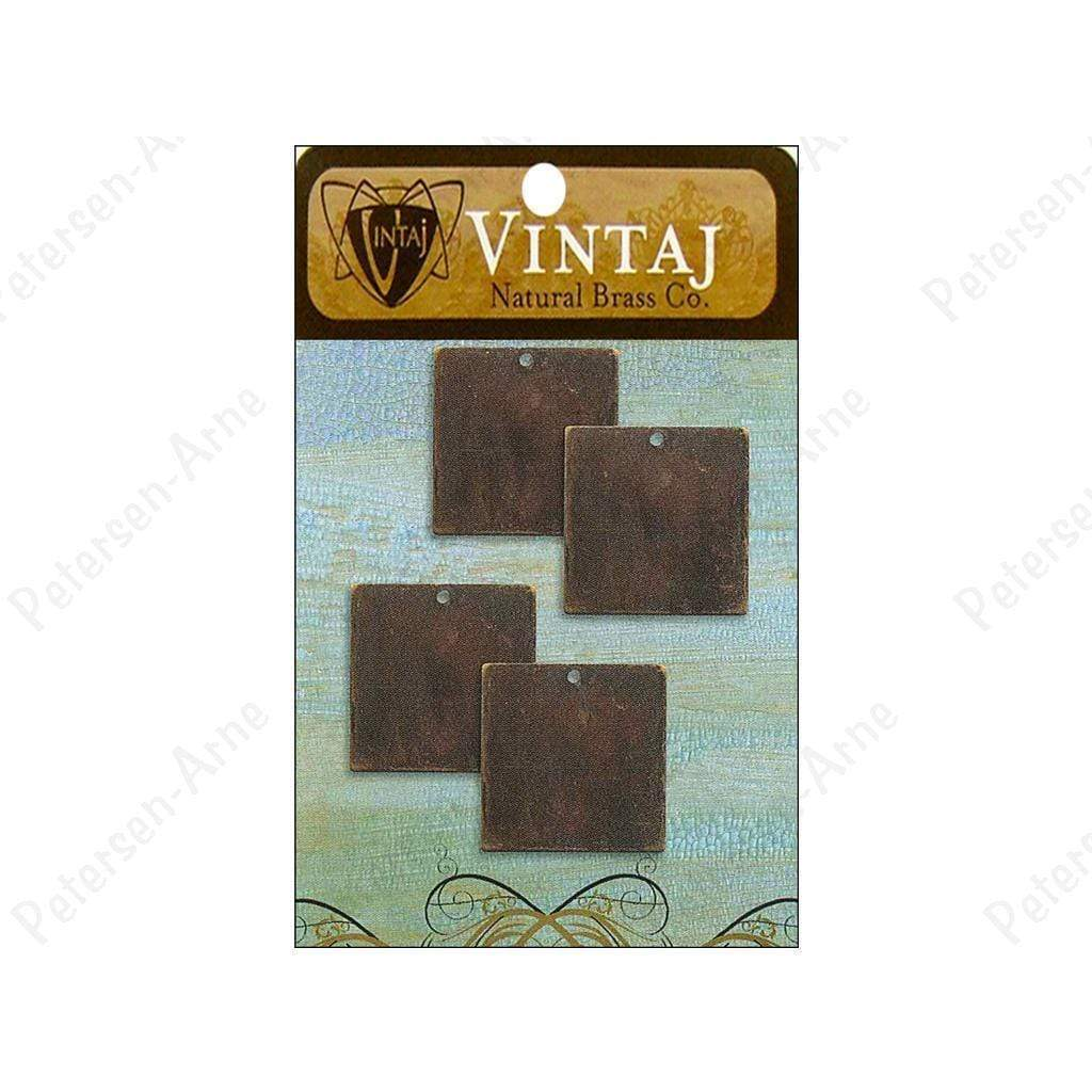 Vintaj Placas  small square nat brass VINTAJ CENTROARTESANO