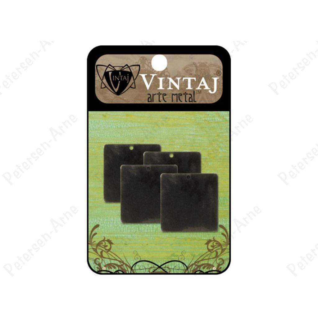 Vintaj placas square 23mm arte metal VINTAJ CENTROARTESANO