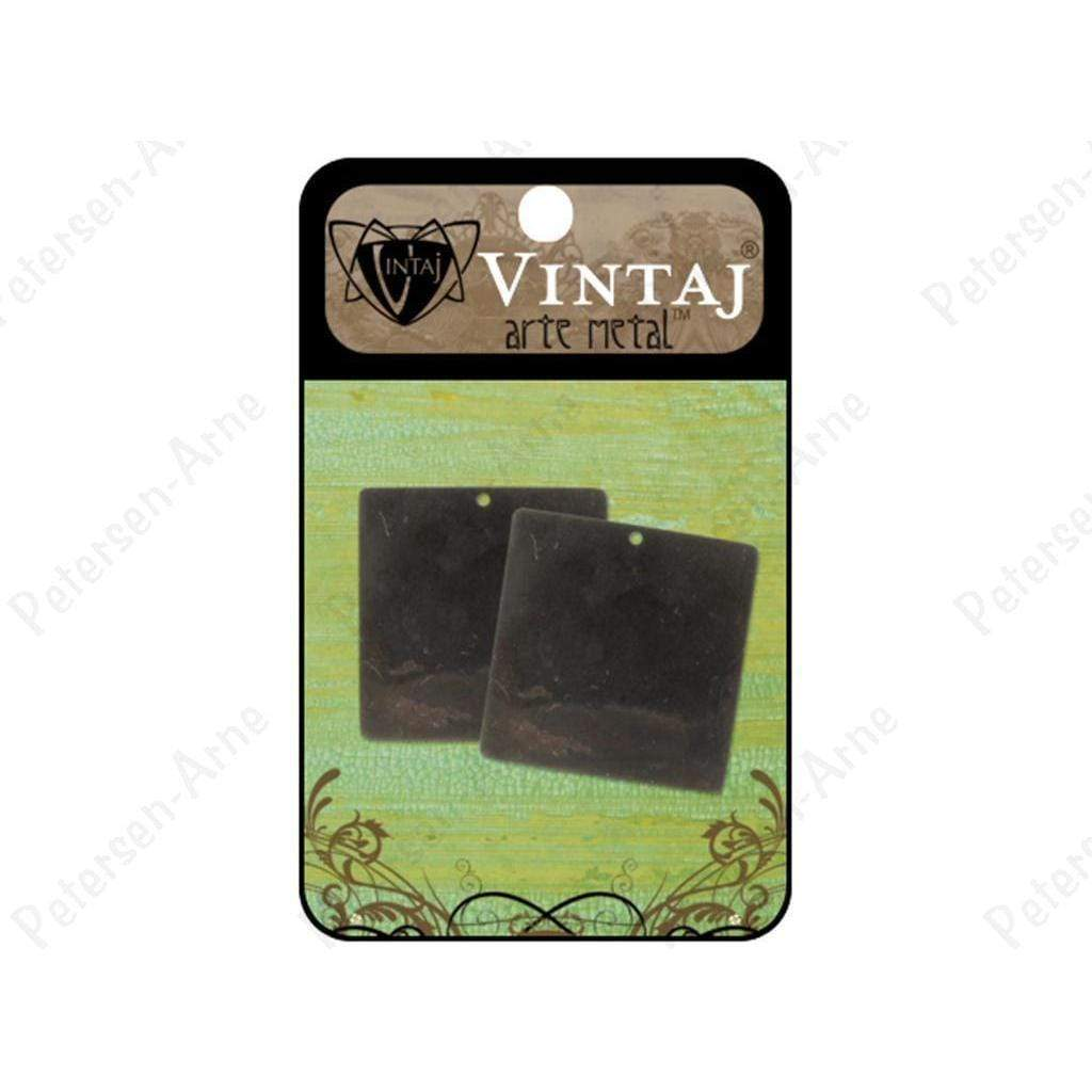 Vintaj placas  square 29mm arte metal VINTAJ CENTROARTESANO