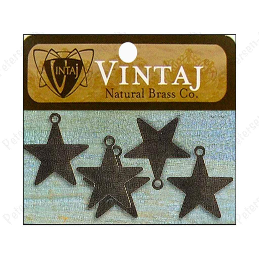 Vintaj Placas Tiny arts star nat brass VINTAJ CENTROARTESANO