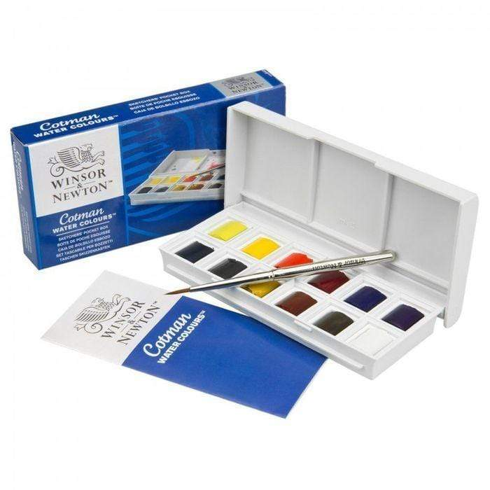 Acuarela winsor&newton cotman 12 colores WINDSOR & AMP CENTROARTESANO