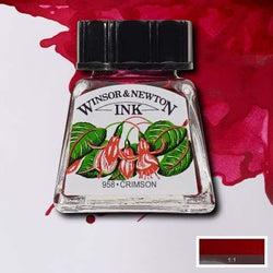 Winsor & Newton Tinta china 14ml carmesi WINDSOR & AMP CENTROARTESANO