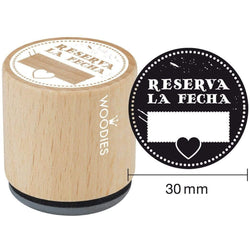 Sello woodies boda WB3008 RESERVA LA FECHA