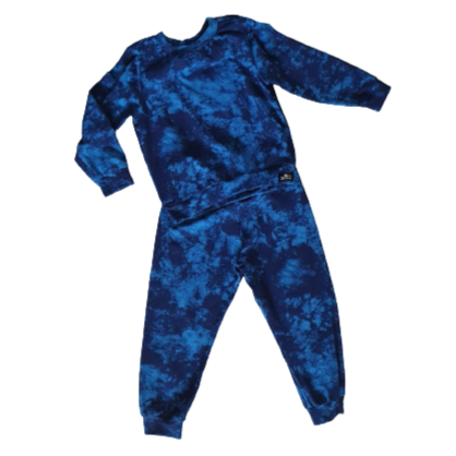 Boys Blue Marble Pajamas