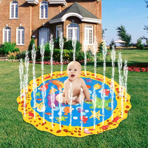Kids Yellow Sprinkler Mats