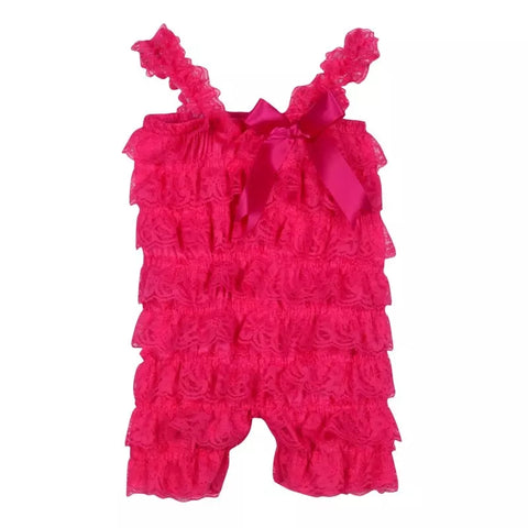 Baby Girls Light Pink Ruffle Romper