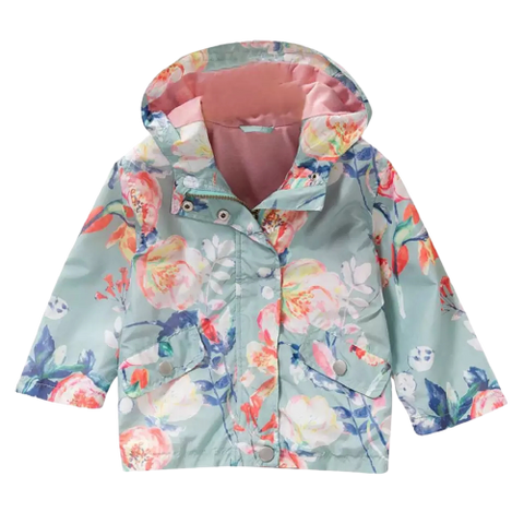 Girls Mint Floral Jacket