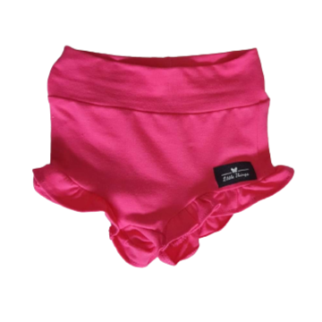 Girls Pink Frill Shorts
