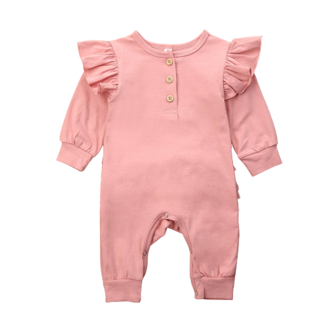 Baby Girls Dusty Pink Babygrow