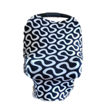 Baby Boys/Girls Car Seat Cover Black & White