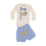 Birthday Long Sleeve Boys Shark Set