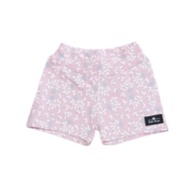 Girls Pink Floral Shorts
