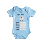 Baby Boys Hello World Babygrow
