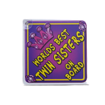 "Girls Princess ""Twin Sisters"" Sign"
