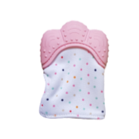 Baby Girls Pink Teething Mitten