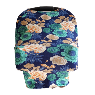 Baby Girls Floral Car Seat Cover
