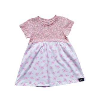 Girls Spring Birdie Floral Dress