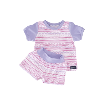 Girls Lilac & Pink Summer Pajamas