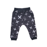 Boys Black Cross Pants