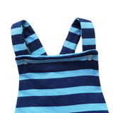 Baby Boys Blue Striped Romper