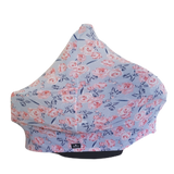 Baby Girls Car Seat Cover Light Blue Floral