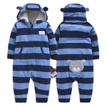 Baby Boys Blue Bear Winter Babygrow